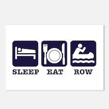 Sleep eat row Postcards (Package of 8)