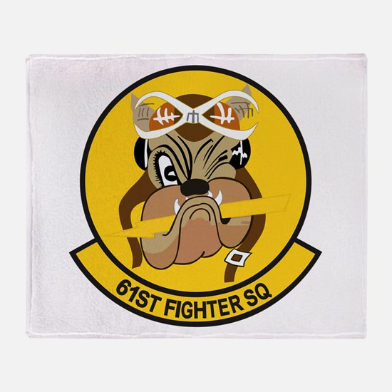61st Fighter Squadron Throw Blanket