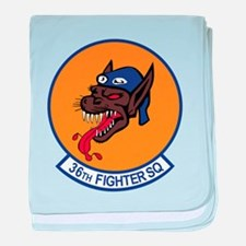 36th Fighter Squadron baby blanket