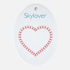 Skylover Skydiver Christmas Ornament (Oval)