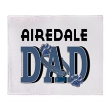Airedale DAD Throw Blanket
