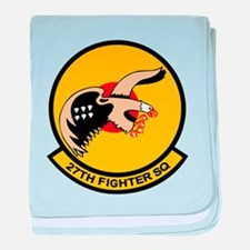 27th Fighter Squadron baby blanket