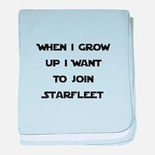 Join Starfleet baby blanket