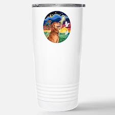 Wish/Believe - Golden Retriev Travel Mug