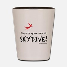 Elevate Your Mood Skydiver Shot Glass