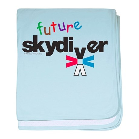 Future Skydiver baby blanket