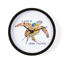 LOVE A Sea Turtle Wall Clock