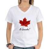 Canadian Womens V-Neck T-shirts