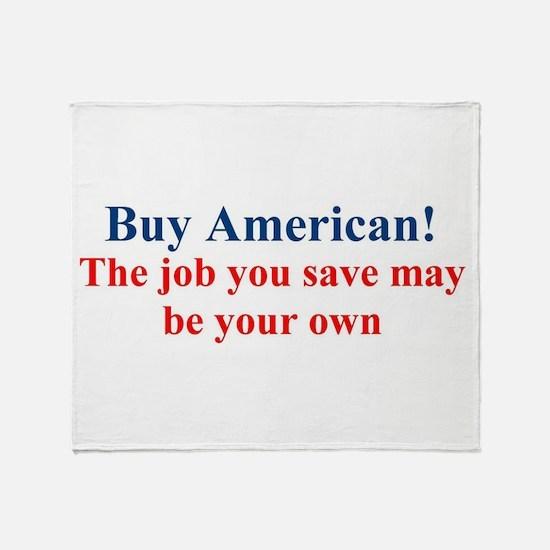 Buy American Throw Blanket