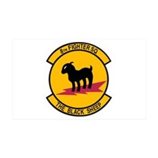 8th Fighter Squadron Black Sh 38.5 x 24.5 Wall Pee