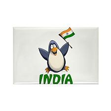 India Penguin Rectangle Magnet