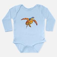 Sea Turtle Long Sleeve Infant Bodysuit