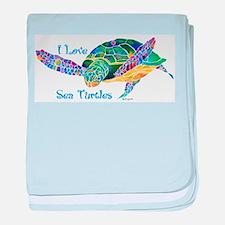Beautiful Sea Turtle baby blanket