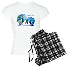 Save The Manatees in Blues Pajamas