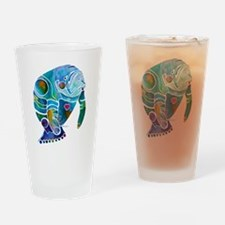 Manatees 1 Drinking Glass