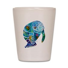 Manatees 1 Shot Glass