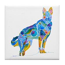 German Shepherd Dog Gifts Tile Coaster