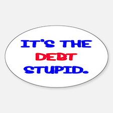 Debt Sticker (Oval)
