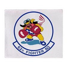 Cute Fighter plane Throw Blanket