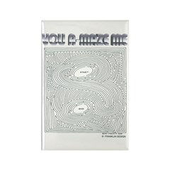 YOU A-MAZE ME Rectangle Magnet (100 pack)