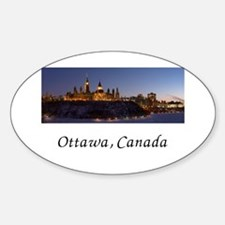 Ottawa Skyline Sticker (Oval)