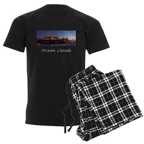 Ottawa Skyline Men's Dark Pajamas