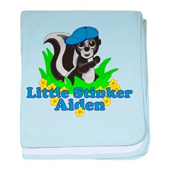 Little Stinker Aiden baby blanket