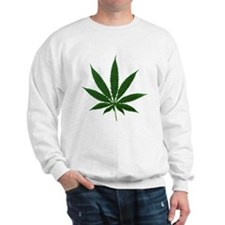Simple Marijuana Leaf Sweater