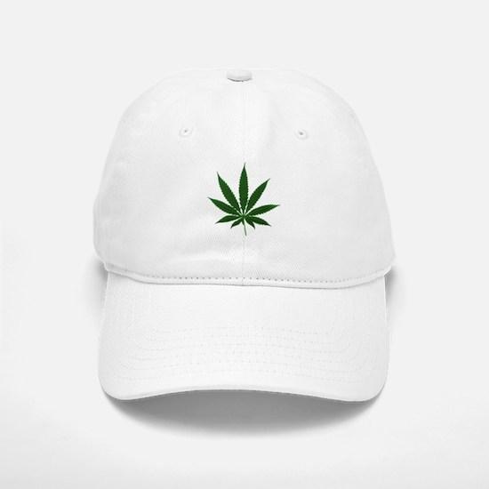 Simple Marijuana Leaf Cap