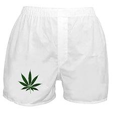 Simple Marijuana Leaf Boxer Shorts
