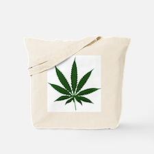 Simple Marijuana Leaf Tote Bag