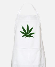 Simple Marijuana Leaf BBQ Apron