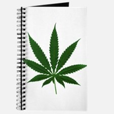 Simple Marijuana Leaf Journal