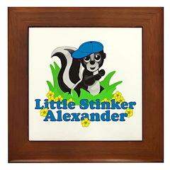 Little Stinker Alexander Framed Tile