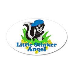 Little Stinker Angel 38.5 x 24.5 Oval Wall Peel