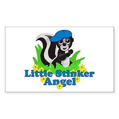 Little Stinker Angel Sticker (Rectangle)