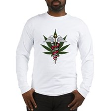 Medical Marijuana Caduceus Long Sleeve T-Shirt