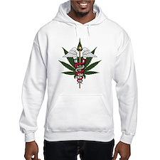 Medical Marijuana Caduceus Hoodie Sweatshirt