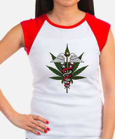 Medical Marijuana Caduceus Women's Cap Sleeve T-Sh