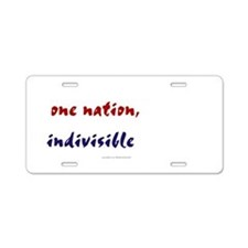 One Nation Indivisible Aluminum License Plate