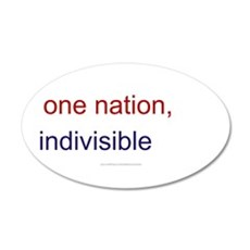 One Nation Indivisible 22x14 Oval Wall Peel