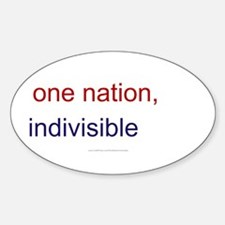 One Nation Indivisible Decal
