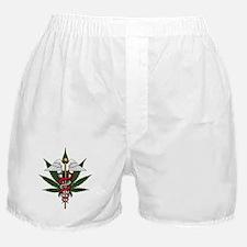 Medical Marijuana Caduceus Boxer Shorts