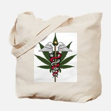 Medical Marijuana Caduceus Tote Bag