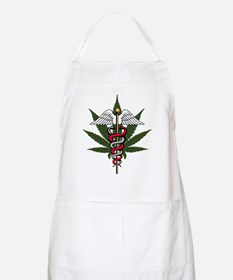 Medical Marijuana Caduceus BBQ Apron