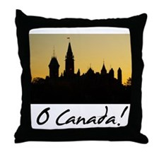 Funny Parliament hill Throw Pillow