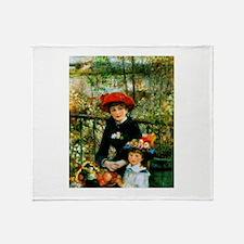 Renoir Two Sisters Throw Blanket