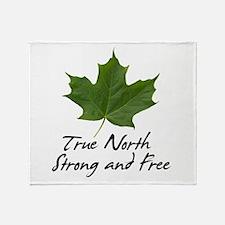 Unique Canada day Throw Blanket