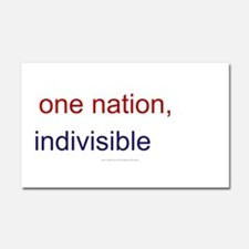 One Nation Indivisible Car Magnet 20 x 12