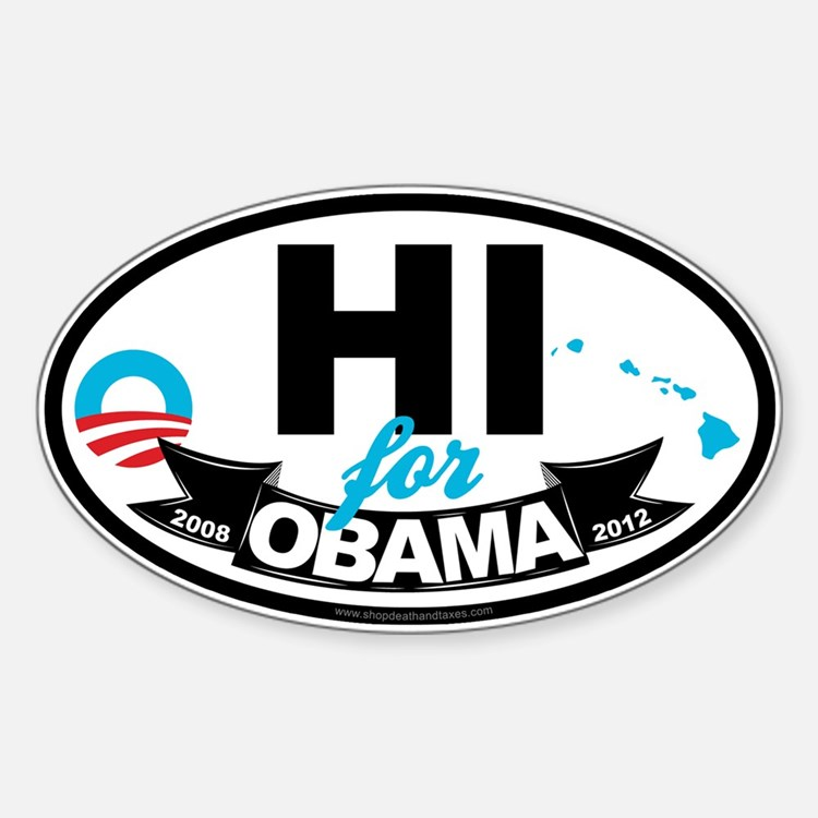 Hawaii for Obama 2012 Decal